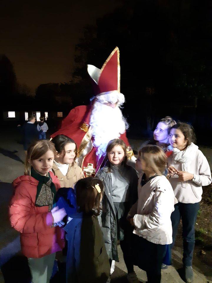 Le marché de Noël du collège avec Saint Nicolas !