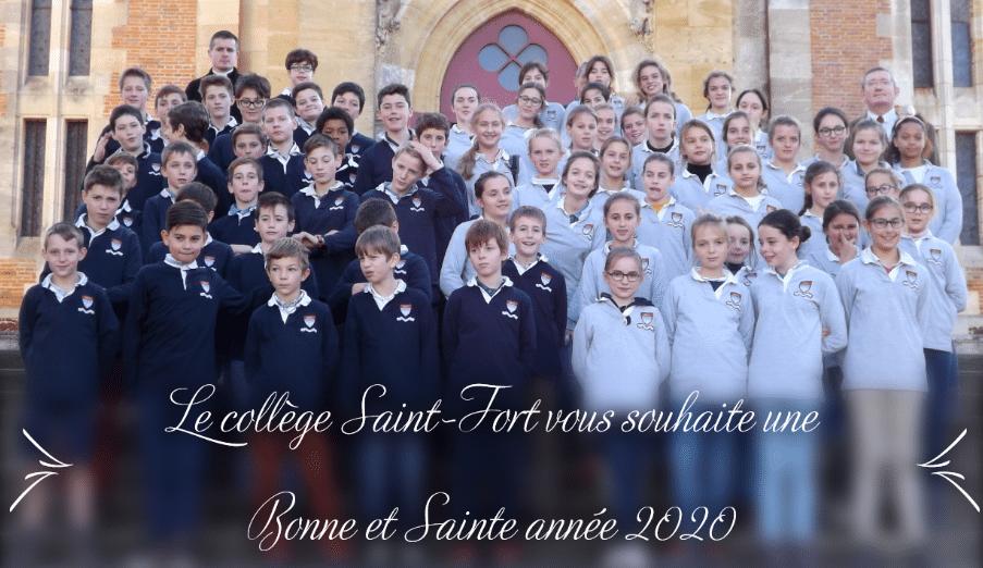 Le collège Saint-Fort vous souhaite une Bonne et Sainte année !