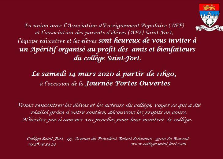 Invitation à l'intention de nos bienfaiteurs
