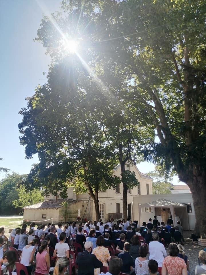Messe de rentrée au collège et apéritif de bienvenue pour les nouvelles familles