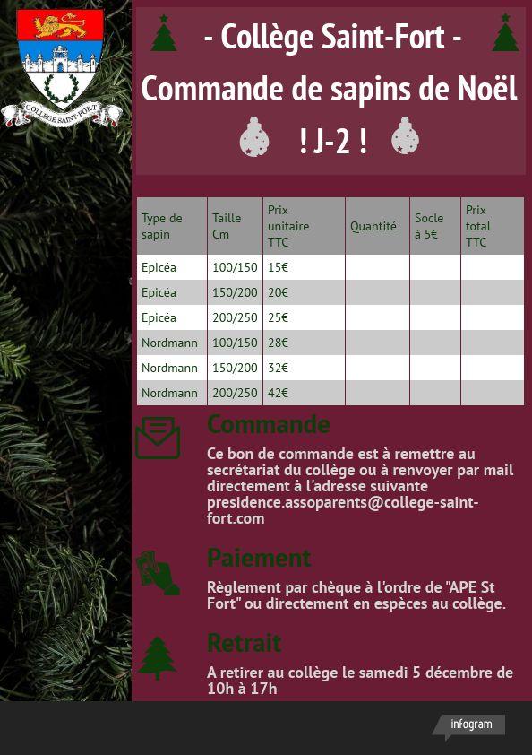 Commandez votre sapin de Noël avant le 20 Novembre  !