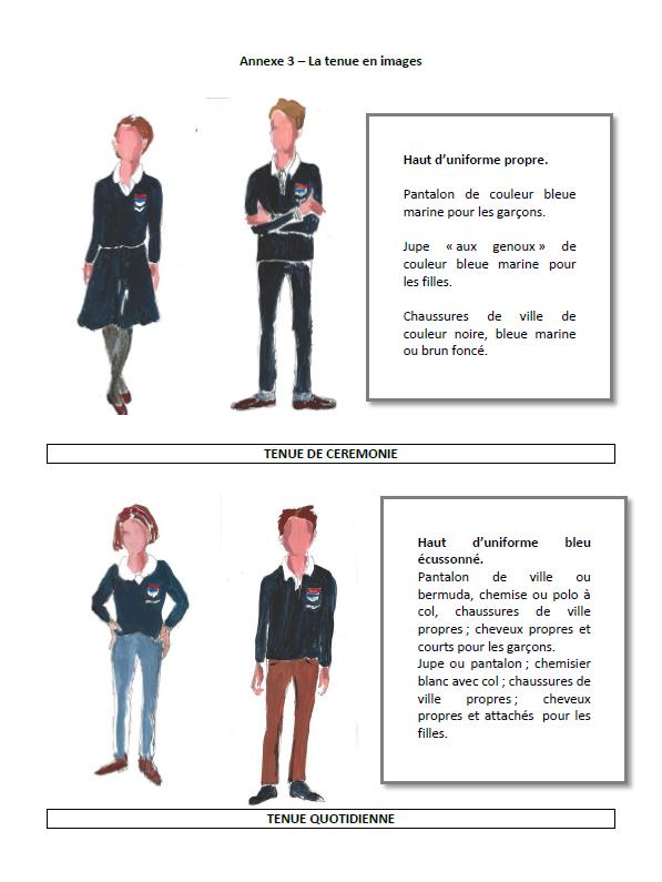 L'uniforme au collège Saint-Fort